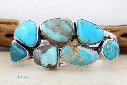 Multi Stone Nevada Turquoise Bracelet Navajo Made E Bahe - 1124sn