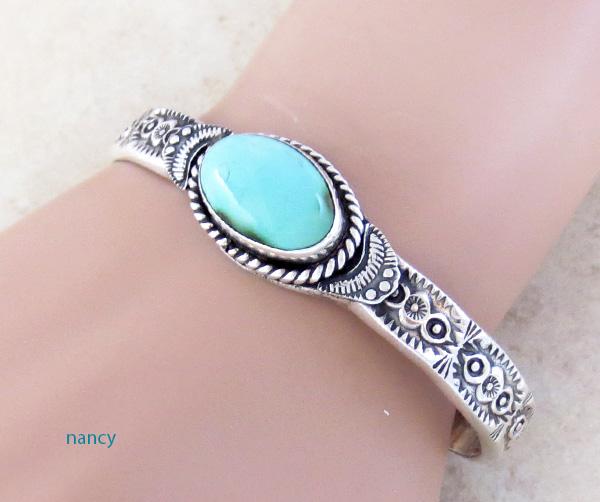 Turquoise & Sterling Silver Bracelet Garrett Hale - 2973dt