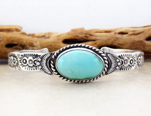 Image 1 of Turquoise & Sterling Silver Bracelet Garrett Hale - 2973dt