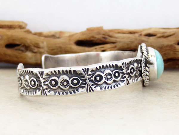 Image 2 of Turquoise & Sterling Silver Bracelet Garrett Hale - 2973dt
