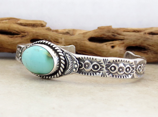 Image 3 of Turquoise & Sterling Silver Bracelet Garrett Hale - 2973dt