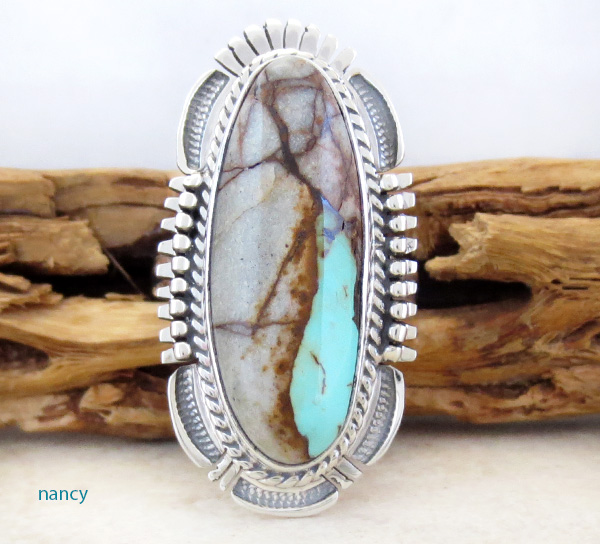 Image 0 of      Boulder Turquoise & Sterling Silver Ring Size 7 Bennie Ration - 3905sn
