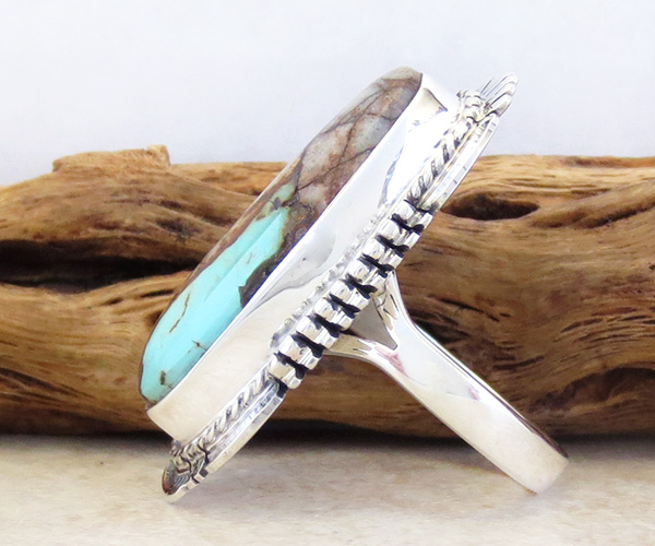 Image 1 of      Boulder Turquoise & Sterling Silver Ring Size 7 Bennie Ration - 3905sn