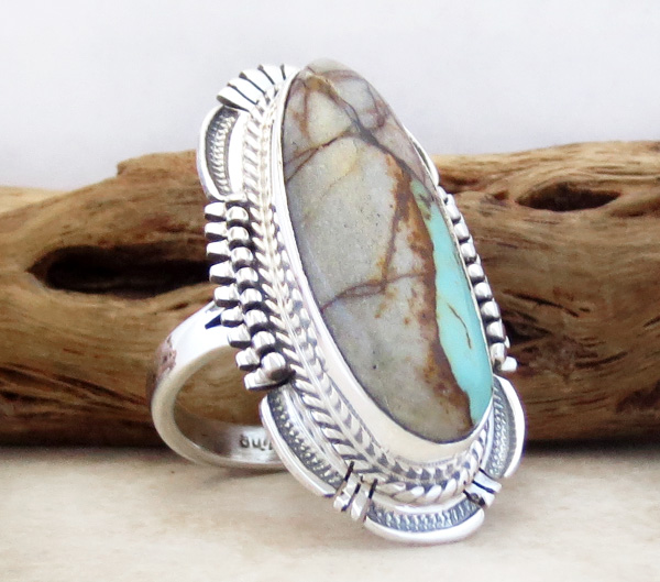Image 2 of      Boulder Turquoise & Sterling Silver Ring Size 7 Bennie Ration - 3905sn