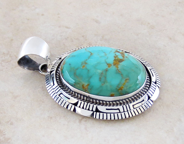Image 2 of    Turquoise & Sterling Silver Pendant Elouise Kee Navajo - 1467dt