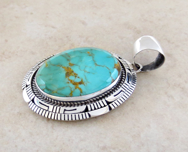 Image 3 of    Turquoise & Sterling Silver Pendant Elouise Kee Navajo - 1467dt
