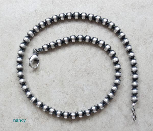 Navajo Sterling Silver Desert Pearl Necklace 16 Long - 1556dt