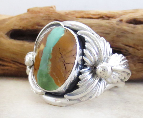 Image 2 of     Boulder Turquoise & Sterling Silver Ring Size 8.75 - 3357sn