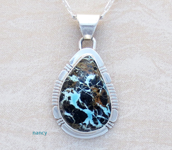 Sunnyside Turquoise & Sterling Silver Pendant Philip Sanchez - 3358sn