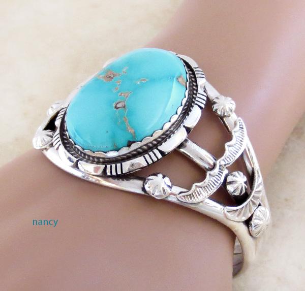 Image 1 of Big Royston Turquoise & Sterling Silver Bracelet Alfred Martinez - 3792dt