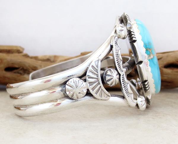 Image 2 of Big Royston Turquoise & Sterling Silver Bracelet Alfred Martinez - 3792dt