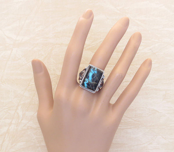Image 4 of Sunnyside Turquoise & Sterling Silver Ring Size 9.5 Navajo Made - 3927sn