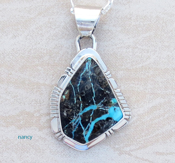 Image 0 of     Sunnyside Turquoise & Sterling Silver Pendant Philip Sanchez - 3934sn