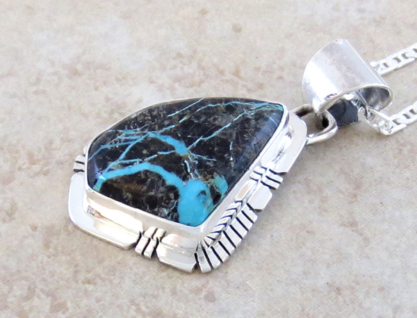 Image 2 of     Sunnyside Turquoise & Sterling Silver Pendant Philip Sanchez - 3934sn