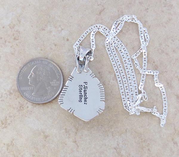 Image 4 of     Sunnyside Turquoise & Sterling Silver Pendant Philip Sanchez - 3934sn