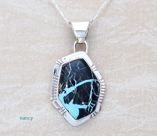 Sunnyside Turquoise & Sterling Silver Pendant Philip Sanchez  - 3679sn