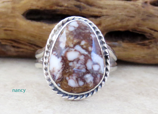 Small Wild Horse Stone & Sterling Silver Ring size 8.25 - 1820sn