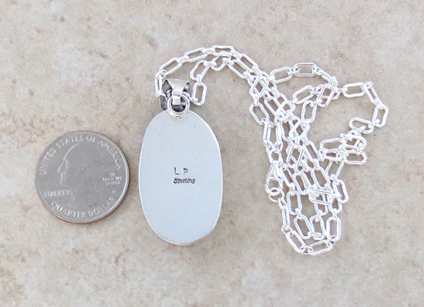 Image 4 of      Wild Horse Stone & Sterling Silver Pendant Navajo - 1825sn
