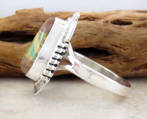 Image 1 of  Boulder Turquoise & Sterling Silver Ring Size 9 Bennie Ration - 4213sn