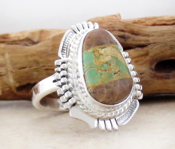 Image 2 of  Boulder Turquoise & Sterling Silver Ring Size 9 Bennie Ration - 4213sn