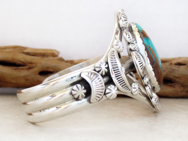 Image 2 of    Native American Jewelry Turquoise & Sterling Silver Bracelet - 4327dt