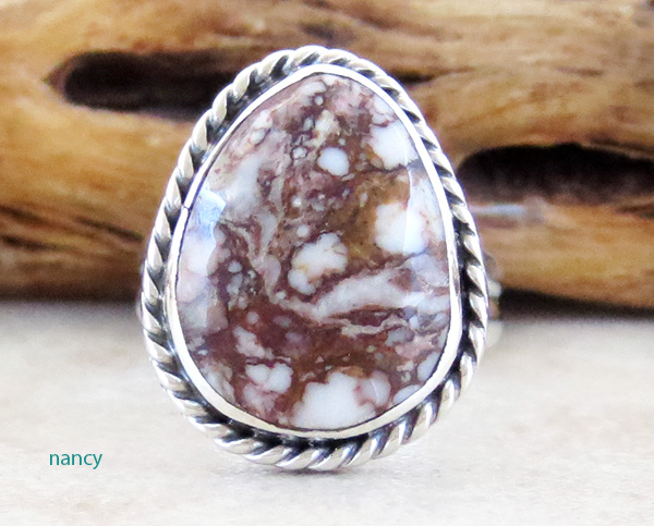 Small Wild Horse Stone & Sterling Silver Ring size 6 Native American - 4118sn