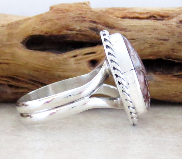 Image 1 of  Wild Horse Stone & Sterling Silver Ring Sz 6 Native American Jewelry  - 4118sn