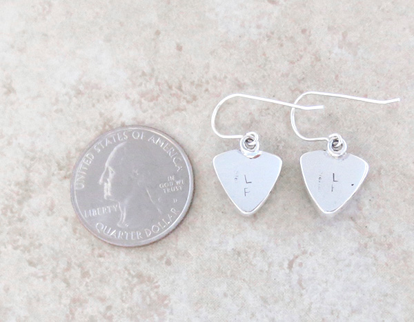 Image 2 of    Ancient Stone & Sterling Silver Earrings Navajo - 4354sn