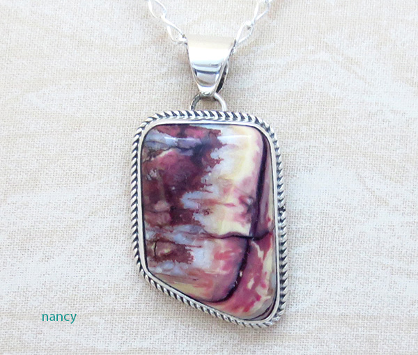Ancient Mammoth Tooth Stone & Sterling Silver Pendant Navajo Made - 1722sn