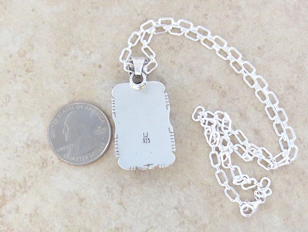 Image 4 of Native American Ancient Mammoth Tooth Stone & Sterling Silver Pendant - 4238sn