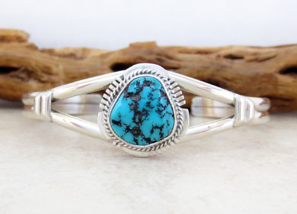 Image 0 of Native American Turquoise Nugget & Sterling Silver Bracelet -4351sn