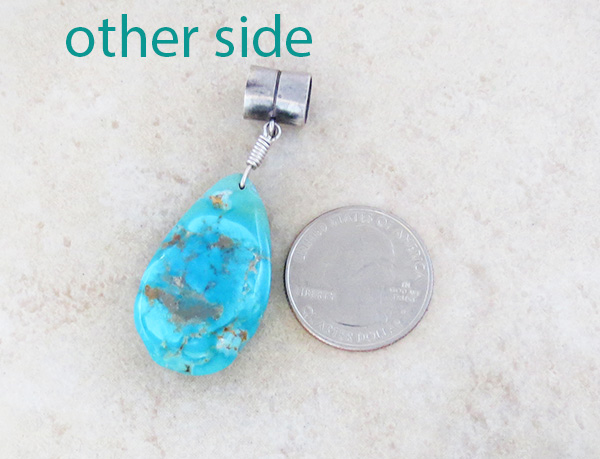 Image 2 of  Free Form Turquoise Stone Pendant Native American - 4231rb