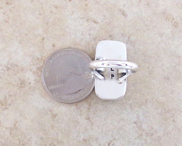 Image 3 of    Mammoth Tooth Stone & Sterling Silver Ring Size 7 Native American - 3590sn