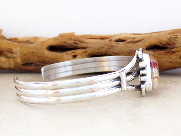 Image 2 of Navajo Made Ancient Mammoth Tooth Stone & Sterling Silver Bracelet - 3365sn