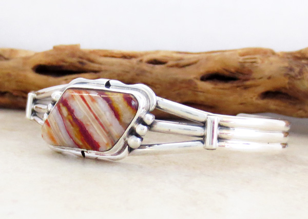 Image 3 of Navajo Made Ancient Mammoth Tooth Stone & Sterling Silver Bracelet - 3365sn