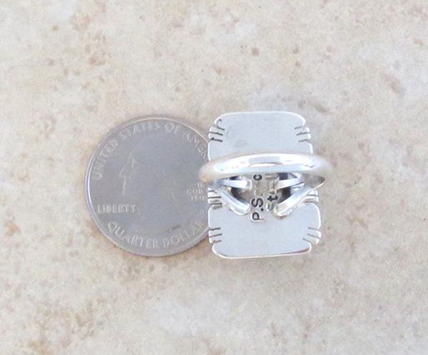 Image 3 of Mammoth Tooth Stone & Sterling Silver Ring Size 7 Native American - 4254sn
