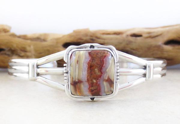 Native American Mammoth  Stone & Sterling Silver Bracelet - 2985sn
