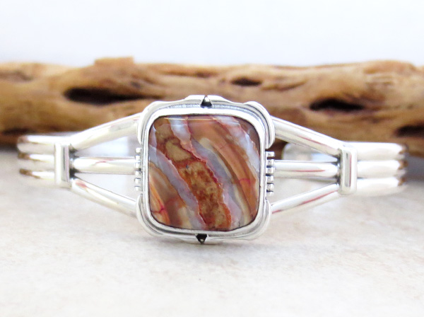 Navajo Ancient Mammoth Tooth Stone & Sterling Silver Bracelet - 4502sn