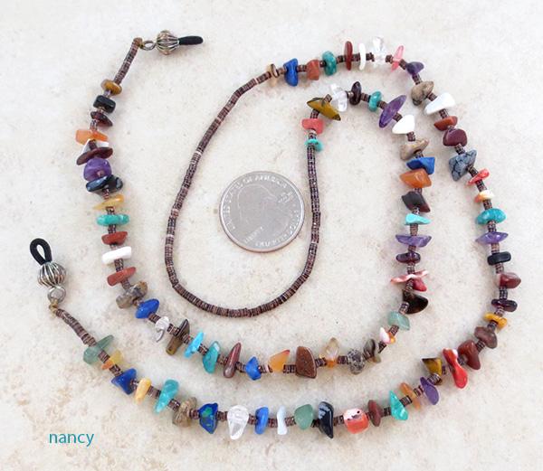 Image 0 of Eyeglass Chain Multi Stone Native American Made - 4389rio