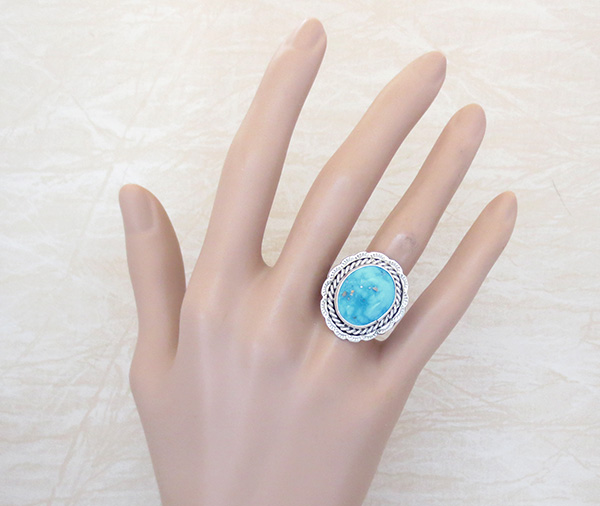 Image 4 of Turquoise & Sterling Silver Ring size 10.5 Native American - 2981pl