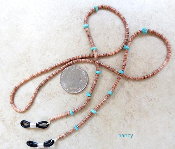 Image 0 of    Turquoise & Heishi Eyeglass Chain 26
