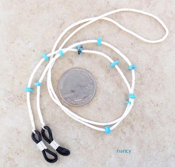Image 0 of   Turquoise & Heishi Eyeglass Chain 25
