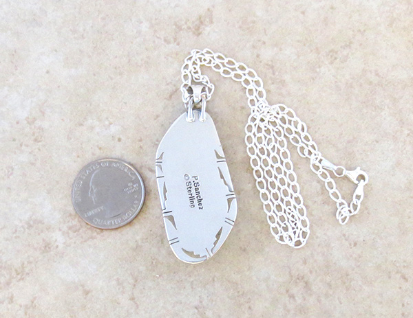 Image 3 of    Big Native American Mammoth Tooth Stone & Sterling Silver Pendant - 4395sn
