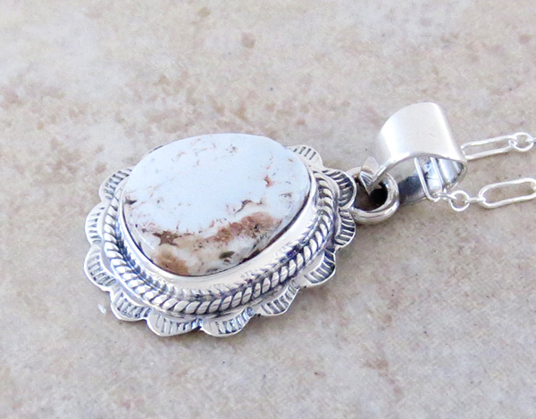 Image 2 of    Small Dry Creek Turquoise & Sterling Silver Pendant Native American - 3994rio