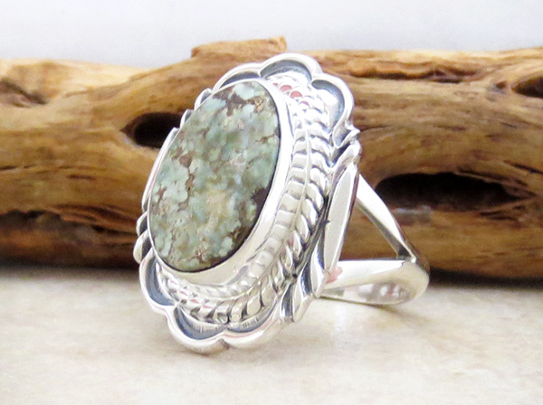 Image 2 of Dry Creek Turquoise & Sterling Silver Ring Size 8 Native American - 4812rio
