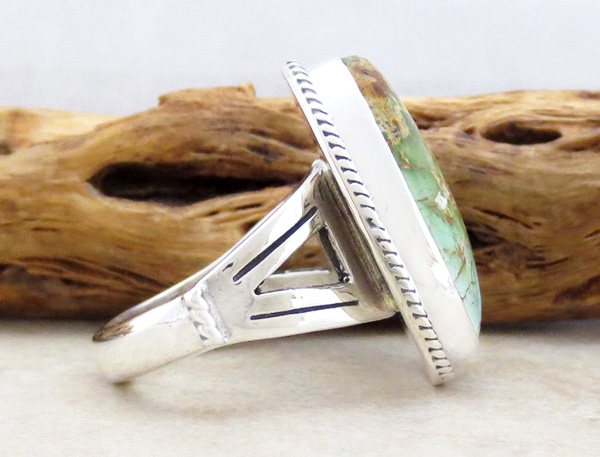 Image 1 of  Turquoise & Sterling Silver Ring Size 9 Native American Made - 4703sn