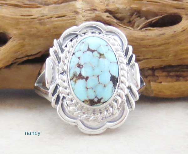 Dry Creek Turquoise & Sterling Silver Ring Size 9 Navajo - 3996rio