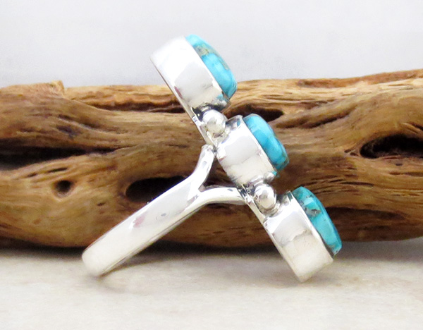Image 1 of       Turquoise & Sterling Silver Ring Size 6.5 Native American Jewelry - 1267sn