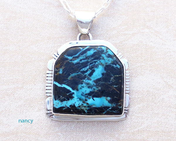Sunnyside Turquoise & Sterling Silver Pendant Native American Made - 4526sn