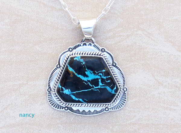 Image 0 of  Sunnyside Turquoise & Sterling Silver Pendant Native American Made - 3798sn